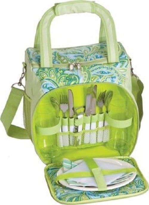 Fabric Lunch Bag Insulated Beach Cooler Picnic Basket Carry Strap Office Cold Picnicplus
