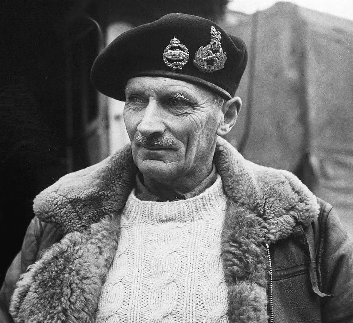 Field Marshal Montgomery . . . I used to have a sweater like that.