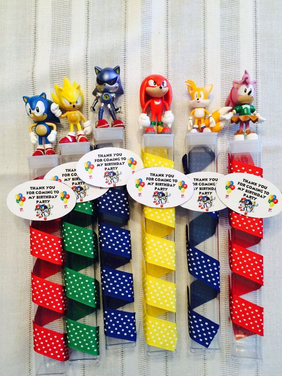 Super Sonic Hedgehog Birthday Party Favors Sonic Birthday Parties Hedgehog Birthday Birthday Party Favors