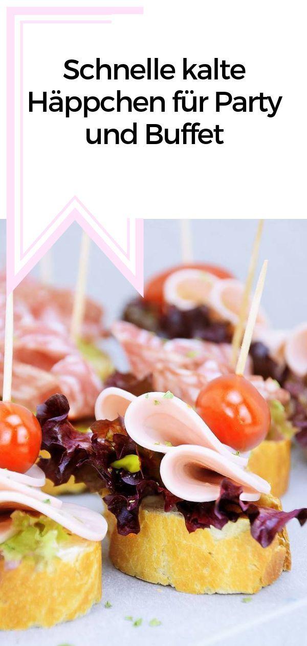 Schnelle kalte Häppchen für Party und Buffet #fingerfoodrezepteschnelleinfach