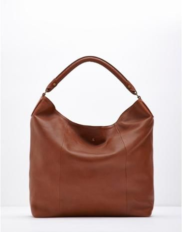 Joules Womens Leather Shoulder Bag, Dark Tan.                     This leather bag is a tried and trusted staple.  Roomy enough to carry everything that you need and with zipped pockets to keep your belongings safe it's a bag you'll turn to season after season.  Crafted from the finest leather we could find it'll age beautifully too.