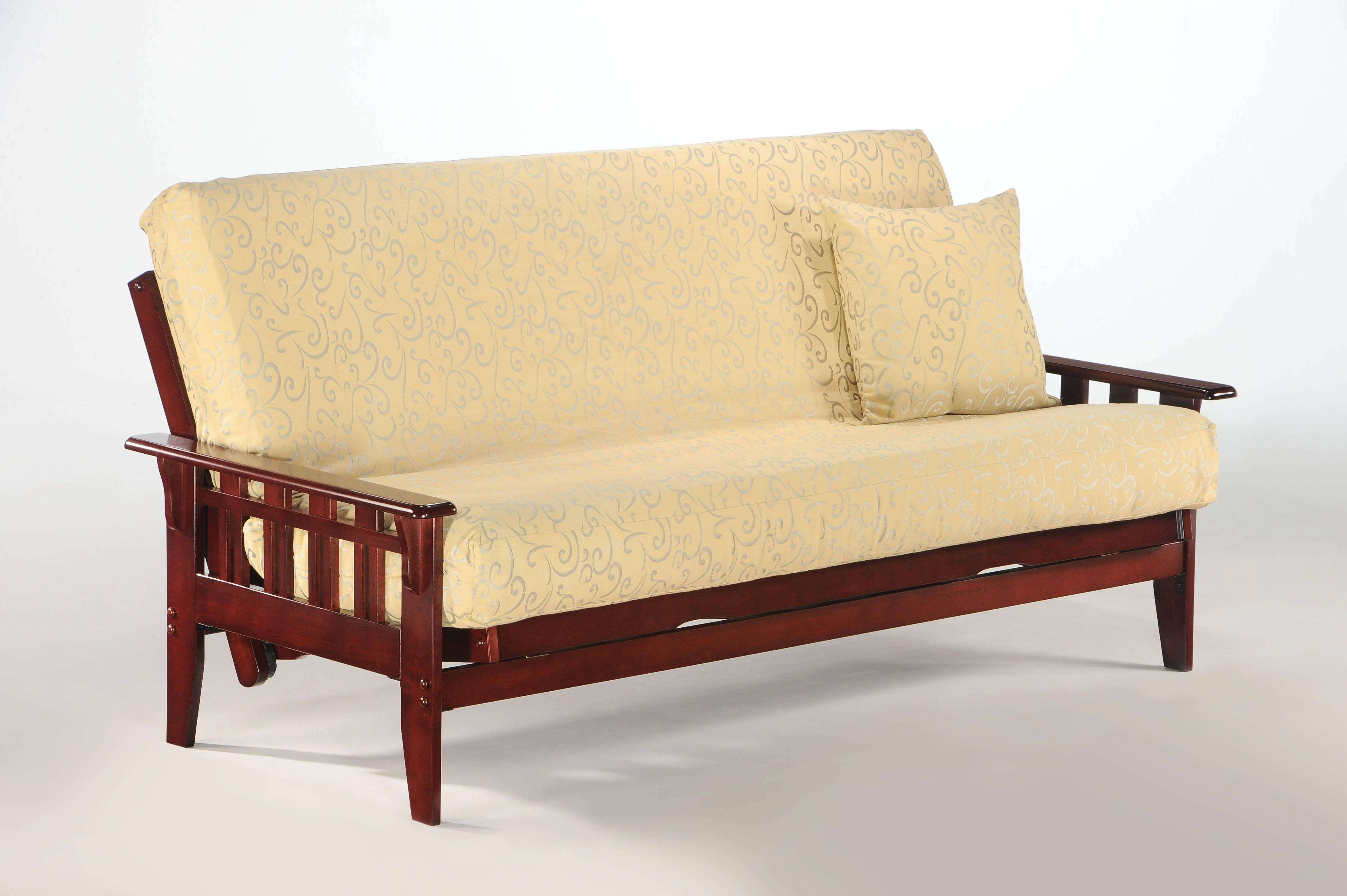 Kingston Microfiber Wood Futon Bed