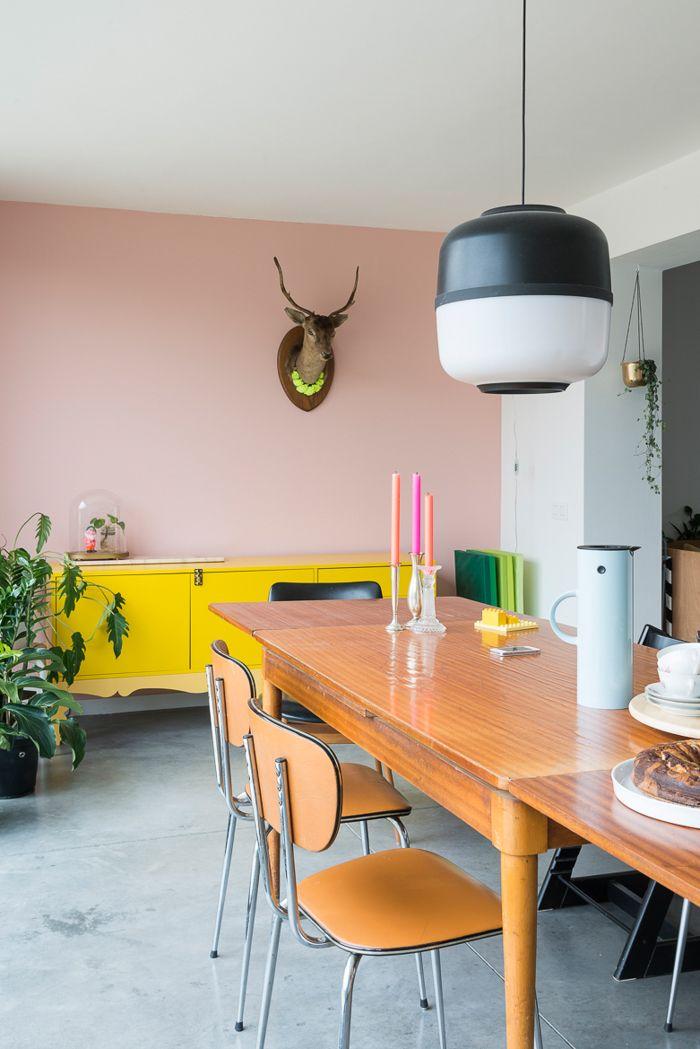 Grauer boden rosa wand pastellfarben f rs interieur lamps pinterest sitzecke k che - Pastellfarben wand ...