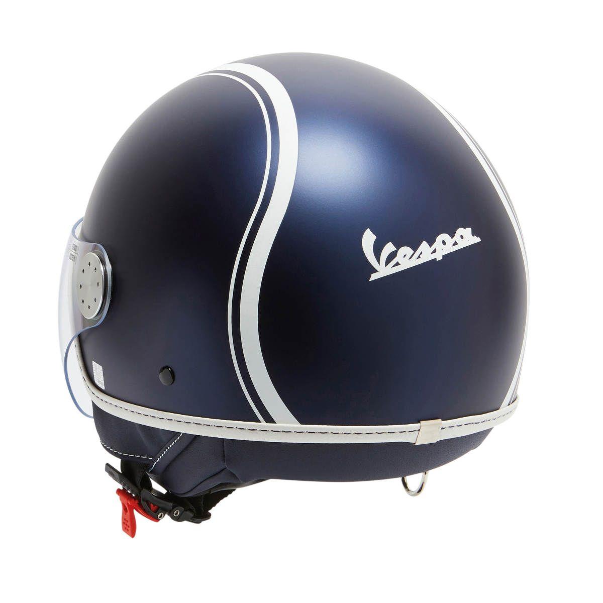 9a8fe45aeb7a6 New Vespa Yacht Club and Double Black Special Edition Helmets - Blue Yacht  Club Helmet Back