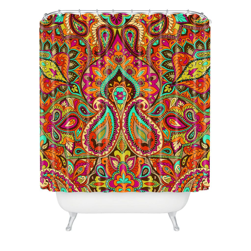 Aimee St Hill Paisley Orange Shower Curtain | DENY Designs ...