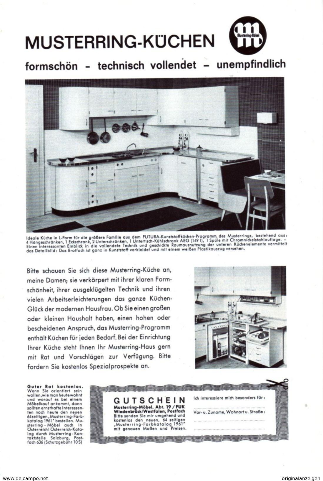 Werbung Original Werbung Anzeige 1961 Musterring Möbel