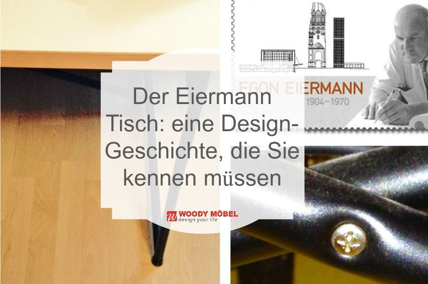 Eine Tischplatte, ein paar Kreuzstreben – fertig ist das Eiermann-Tischgestell. 1953 wurde der Designklassiker entworfen und ist noch heute beliebt, dank seiner unkomplizierten Machart. Wir stellen Ihnen die Entstehungsgeschichte des Eiermann Tischs etwas genauer vor und zeigen, was ihn zur Möbel-Ikone macht.