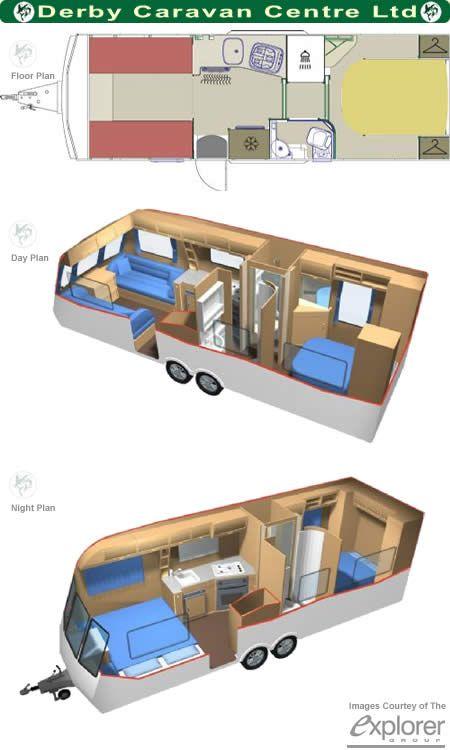 Caravan floor plans small house pinterest caravan for 12 foot travel trailer floor plans