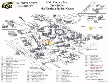 Wsu Campus Map Wsu Architecture History Campus Map Wichita