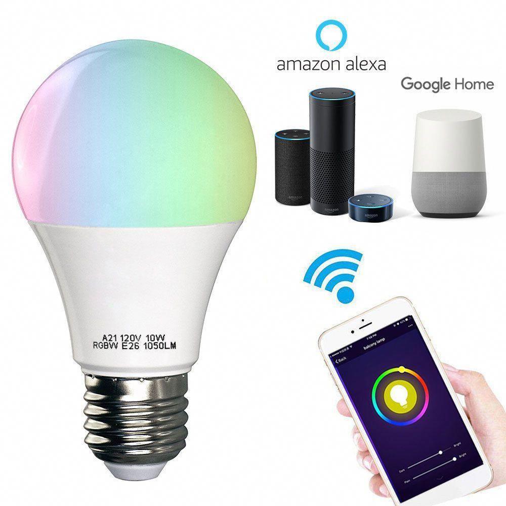 Wifi Smart Multi Color Led Light Bulb For Amazon Alexa Google Home