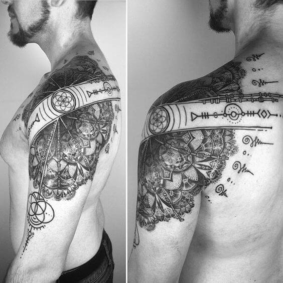 Mandala Tattoos For Men Tattoos For Guys Mandala Tattoo Shoulder Mens Shoulder Tattoo