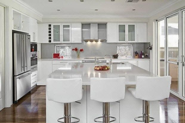 Kitchen Recessed Lighting Layout White Gloss Kitchen Elegant