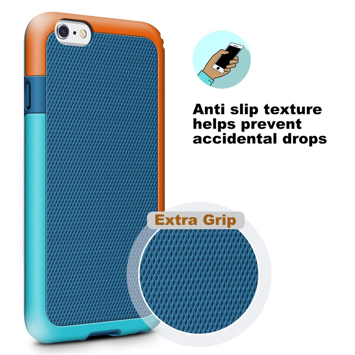 iphone 6 shockproof case orange