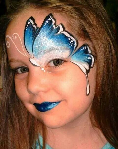 Papallona shmink Pinterest Face paintings - face painting halloween makeup ideas