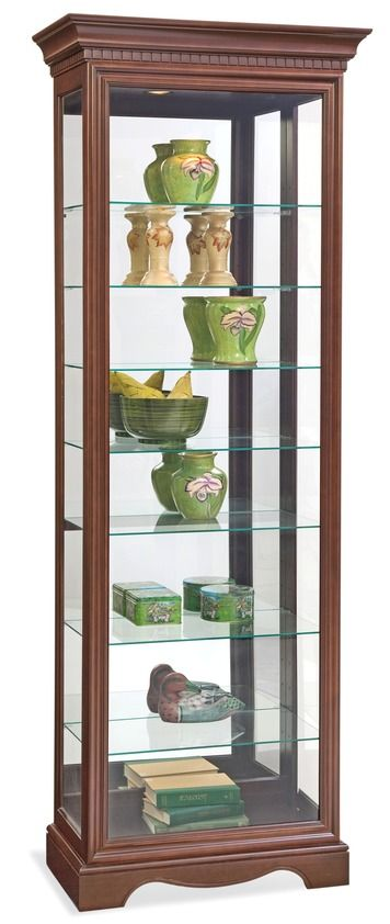 Octave Iii Eight Shelf Curio Cabinet In Cherry Philip Reinisch