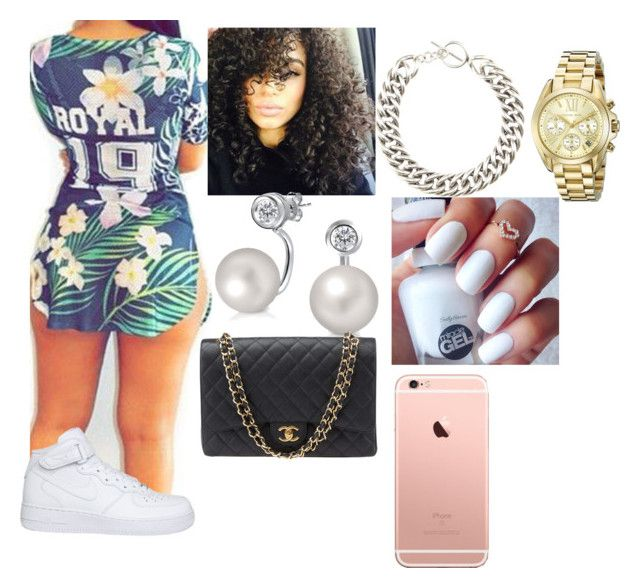 """""""10/26/15"""" by qveen-nenee ❤ liked on Polyvore featuring NIKE, Bling Jewelry, Yves Saint Laurent, Michael Kors and Chanel"""