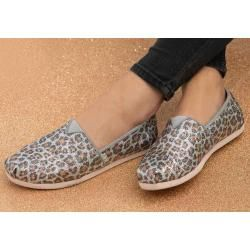 Photo of Toms Shoes Silver Leopard Glitter Classics For Women – Gr …