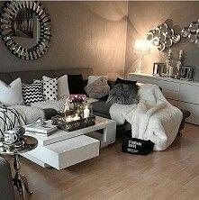 Wohnzimmer Braun U0026 Weiß