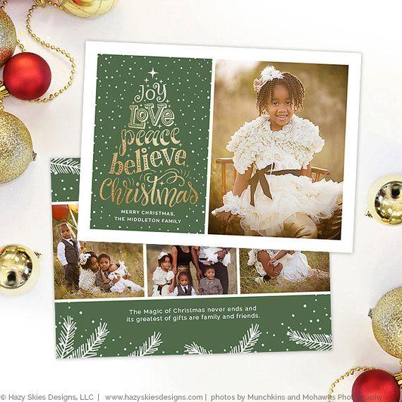 Sale Christmas Card Template For Photographers Ot Hazyskiesdesigns