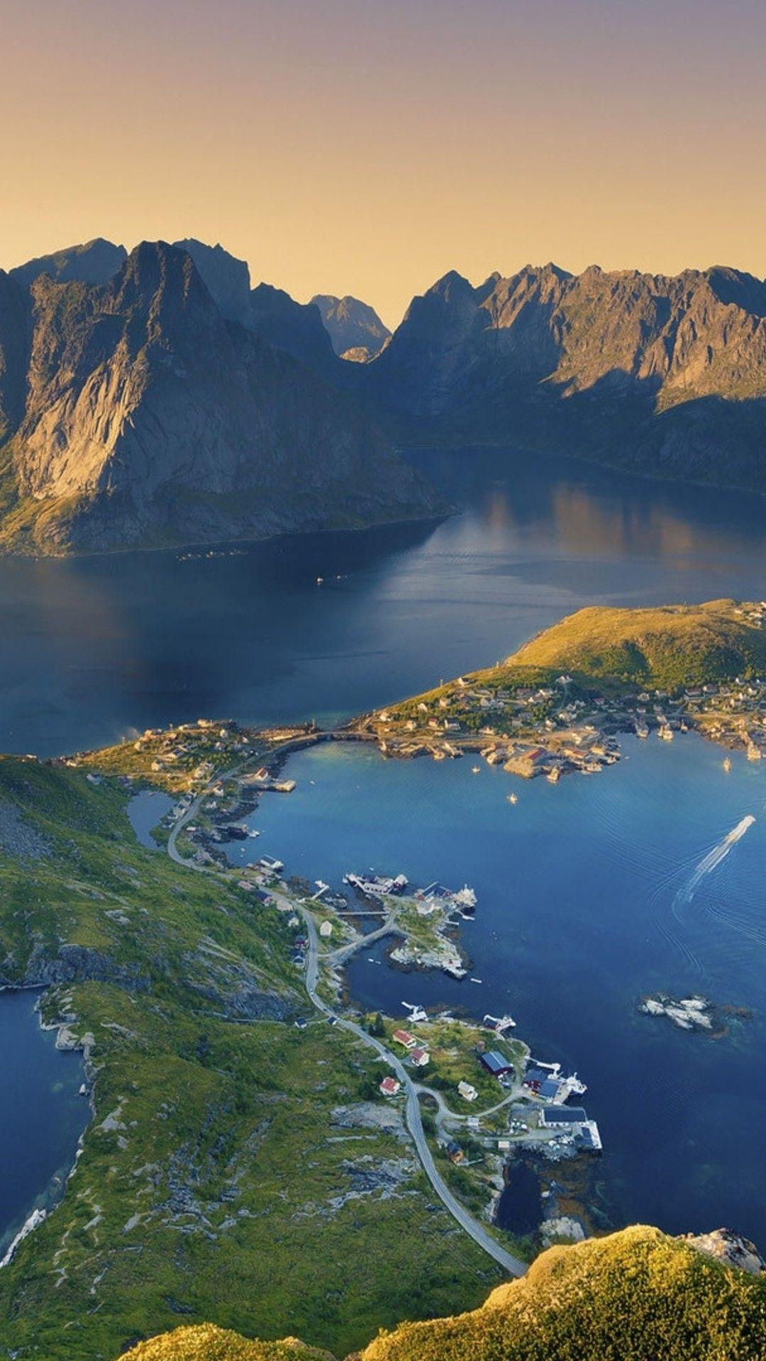 Wallpaper Download 1080x1920 Lofoten Island From Norway