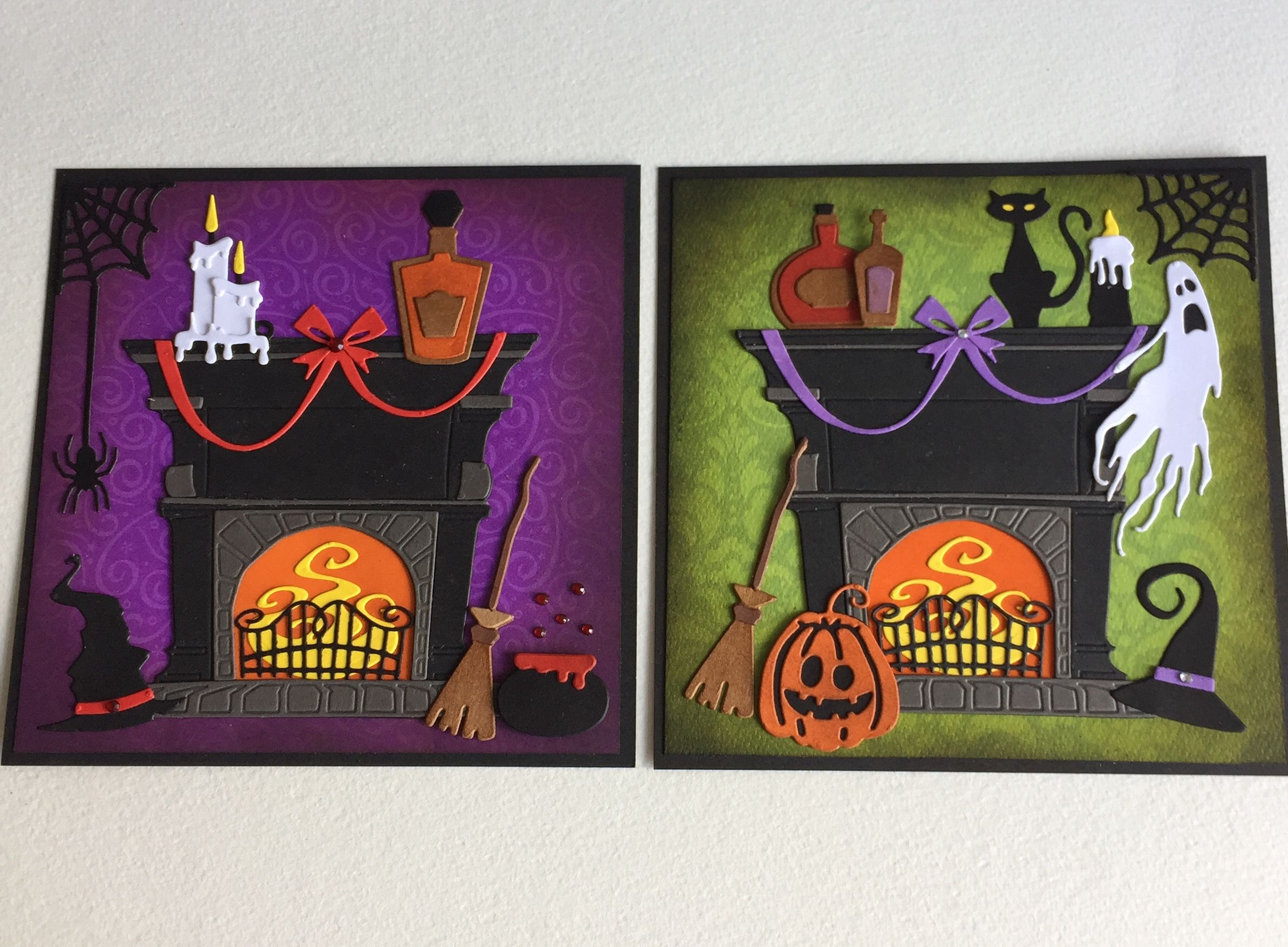 Halloween card toppers using only sizzix tim holtz dies