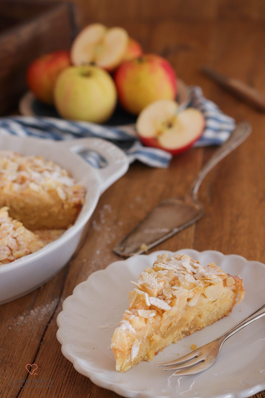 Apfel-Mandel-Kuchen (mit Marzipan) | Cookie und Co