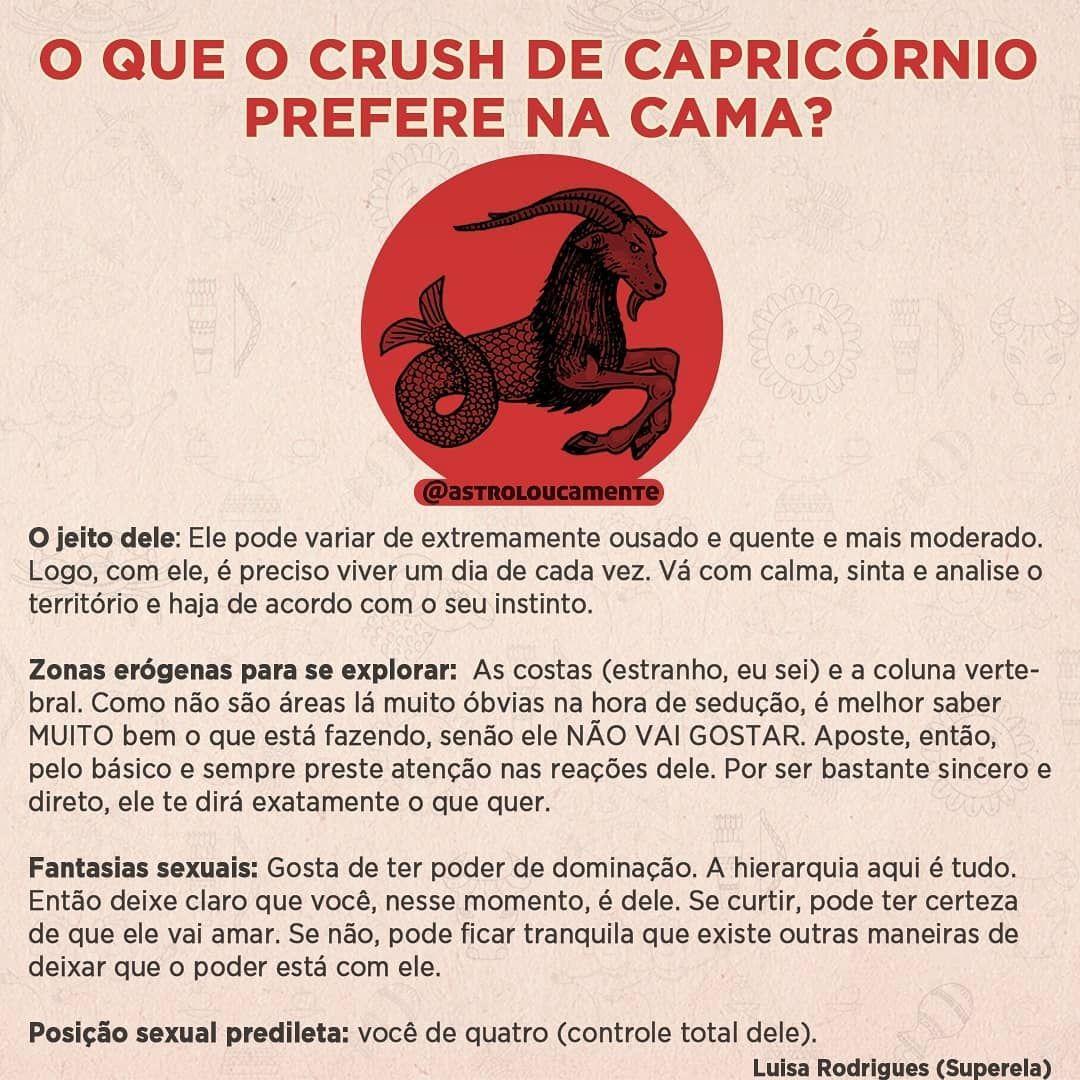 O Que O Crush De Capricornio Prefere Na Cama Texto Por Luisa