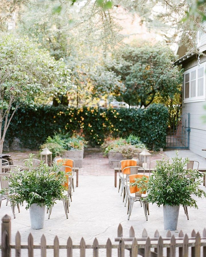 Intimate wedding in the backyard #wedding #intimatewedding #weddingideas