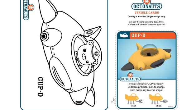 The Octonauts Coloring Pages And Crafts On Disney Junior Disney Junior Crafts Disney Junior Octonauts