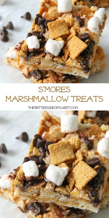 S'mores Marshmallow Treats #marshmallowtreats