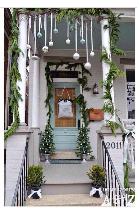 Greenery Christmas Porch Decor Outdoor Christmas Decorations