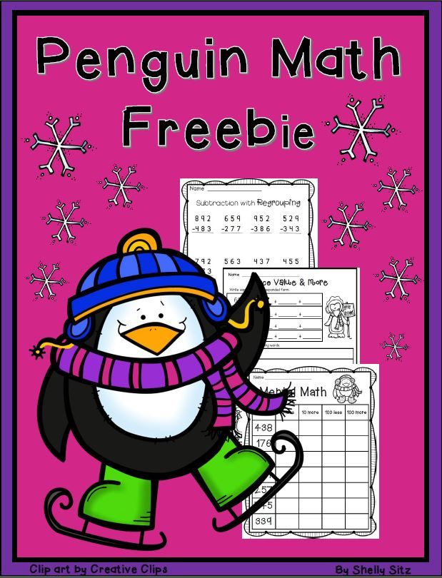 Penguin Math2nd grade mathFREEmental math 3digit addition – Penguin Math Worksheets