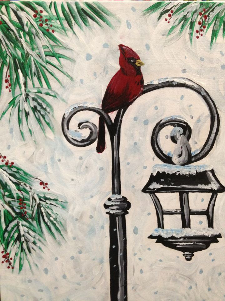 Clayton Nc Wine And Design Art Winterchristmas Paintings