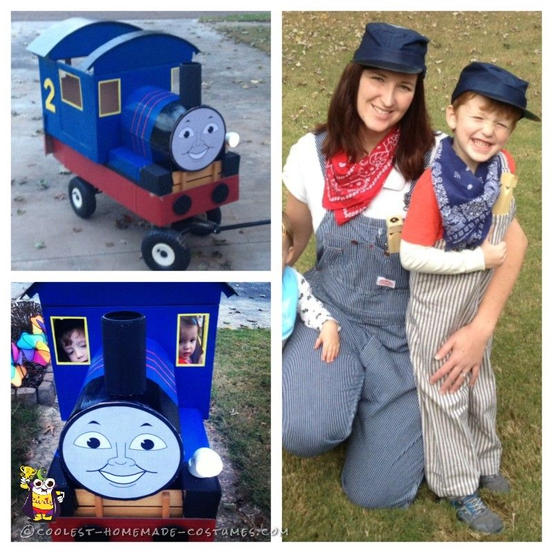 Edward the blue engine train costume craftscostumes by charlotte coolest homemade edward the blue engine train costume thomas the tank engine solutioingenieria Image collections