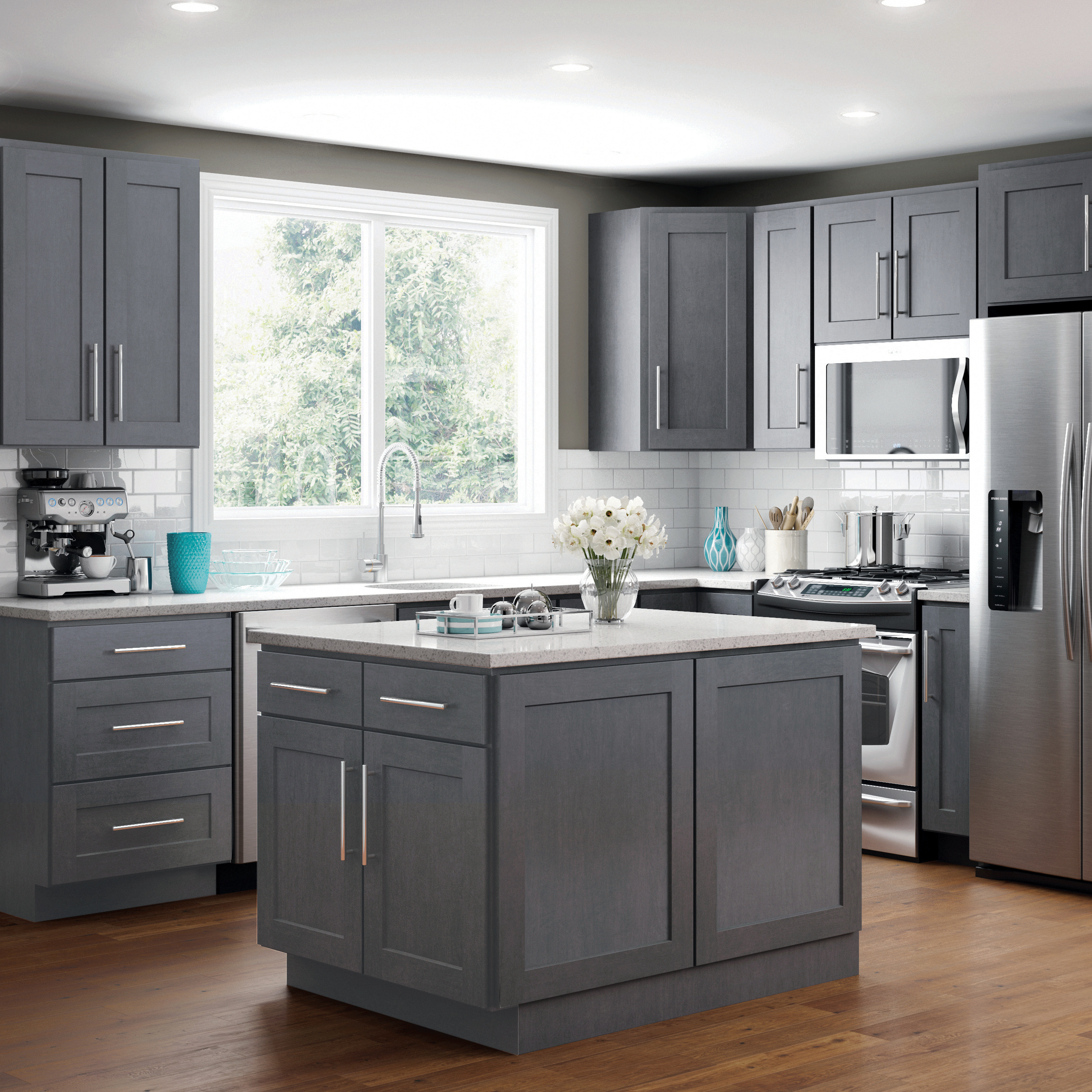 Our Rta Cabinets Ship Flat Packed Assembly Is Required In 2020 Tiny House Kitchen Kitchen Remodel Small Square Kitchen Layout