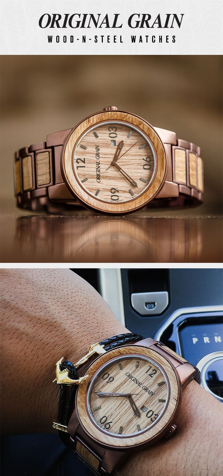 solid espresso wrist whiskey steel reserve collection wood grain watches the products from dial watch original barrel