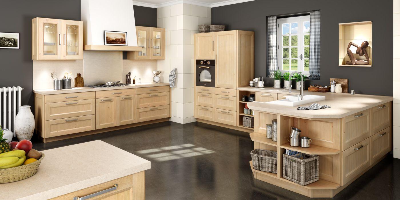cuisine ouverte et traditionnelle avec un agencement en u. Black Bedroom Furniture Sets. Home Design Ideas
