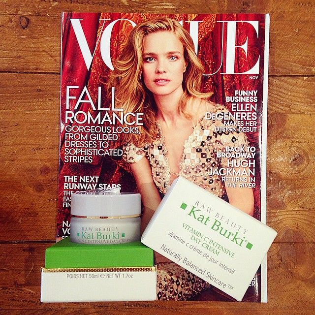 "Check out our Vitamin C Intensive Face Cream featured in the ""Magic Mushroom"" story in the November issue of @voguemagazine!"