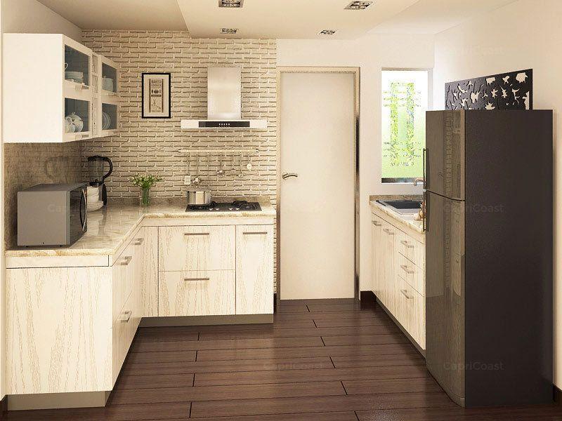 Ushaped Tuscany Modular Kitchen On Capricoast Is Fulfilled Prepossessing Modular Kitchen U Shaped Design 2018