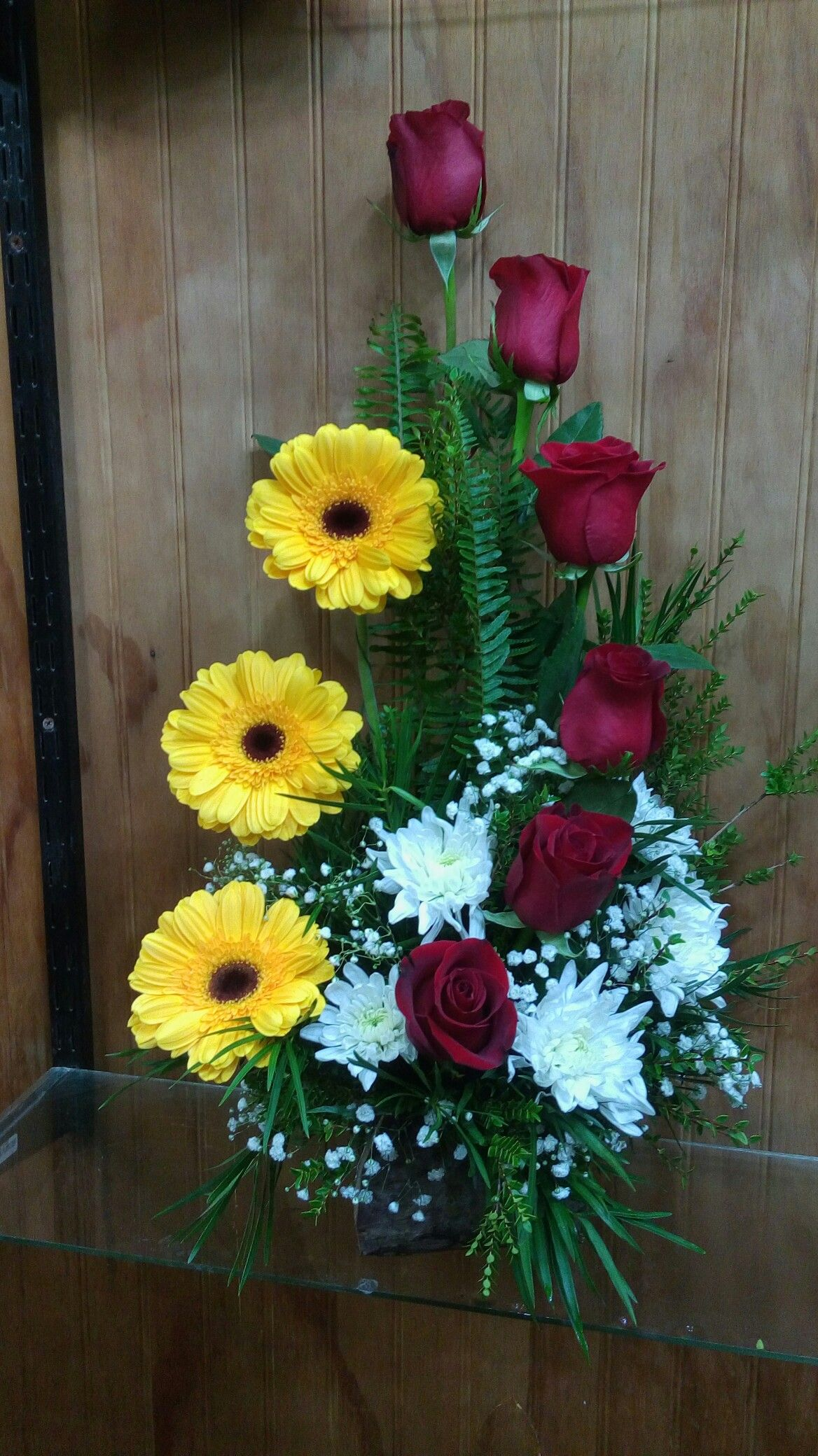 Rosas Gerberas Y Maule Flower Arreglos Florales