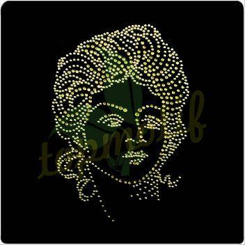 Excellent Marilyn Monroe Rhinestone Design Transfers Crystal Rhinestone Motif