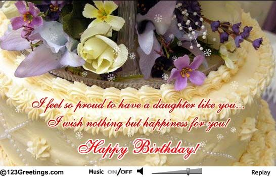 Happy Birthday Daughter for Facebook – Send a Birthday Card on Facebook for Free