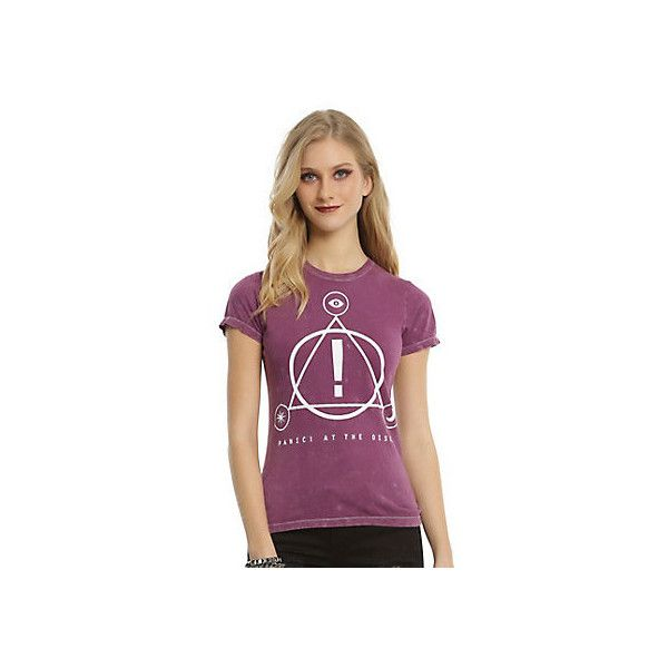 ff79c892 Panic At The Disco! Merch & T-Shirts   Hot Topic ❤ liked on Polyvore  featuring tops, t-shirts, hot topic top, purple t shirt, disco t shirt,  disco top and ...