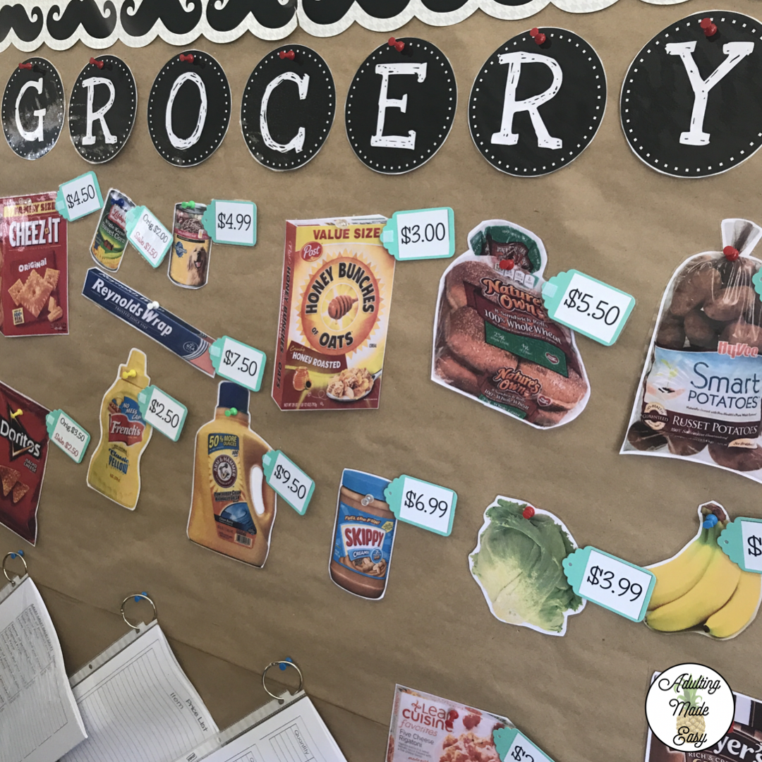 Functional And Interactive Life Skills Grocery Store Bulletin Board Students Can Practice Money