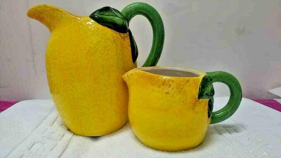 Gisela Graham Yellow Lemon Jug