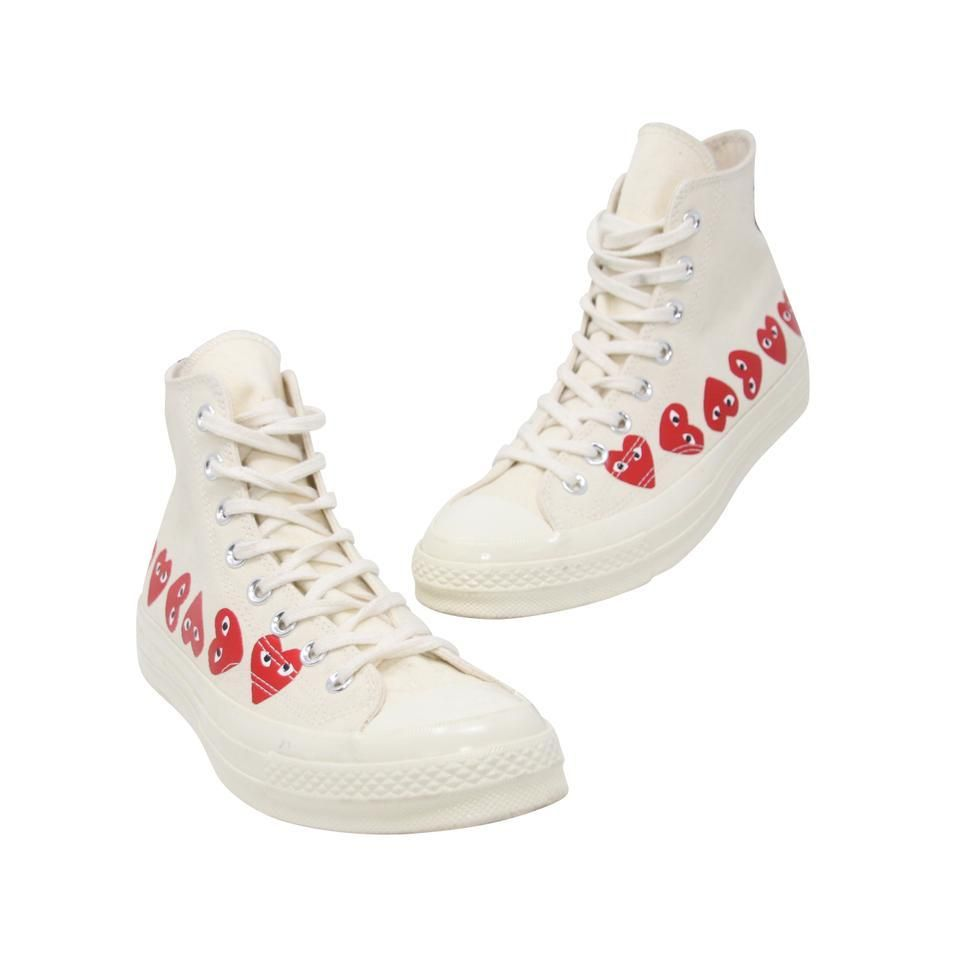 Limited Edition COMME DES GARCONS PLAY Chuck Taylor x CONVERSE Multi Heart