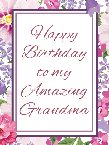 To My Amazing Grandma