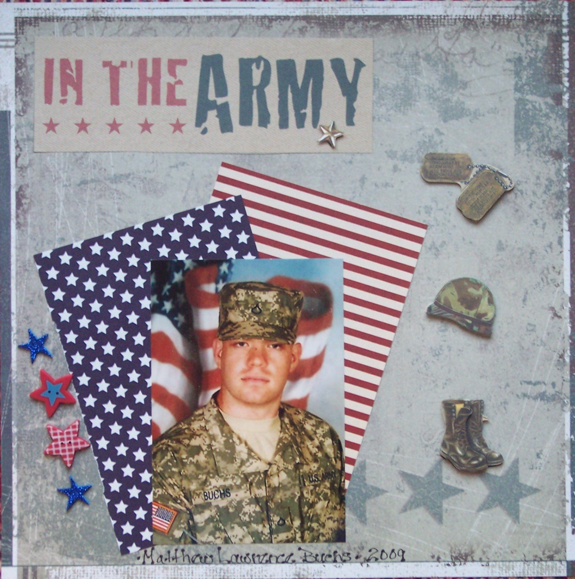 Scrapbook ideas military - In The Army Scrapbook Com