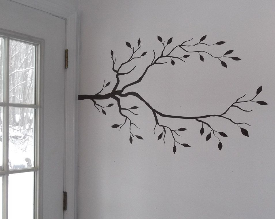 Tree Branch Vinyl Decals Create A DIY Coat Rack Or Jewlery - How to put up a tree wall decal
