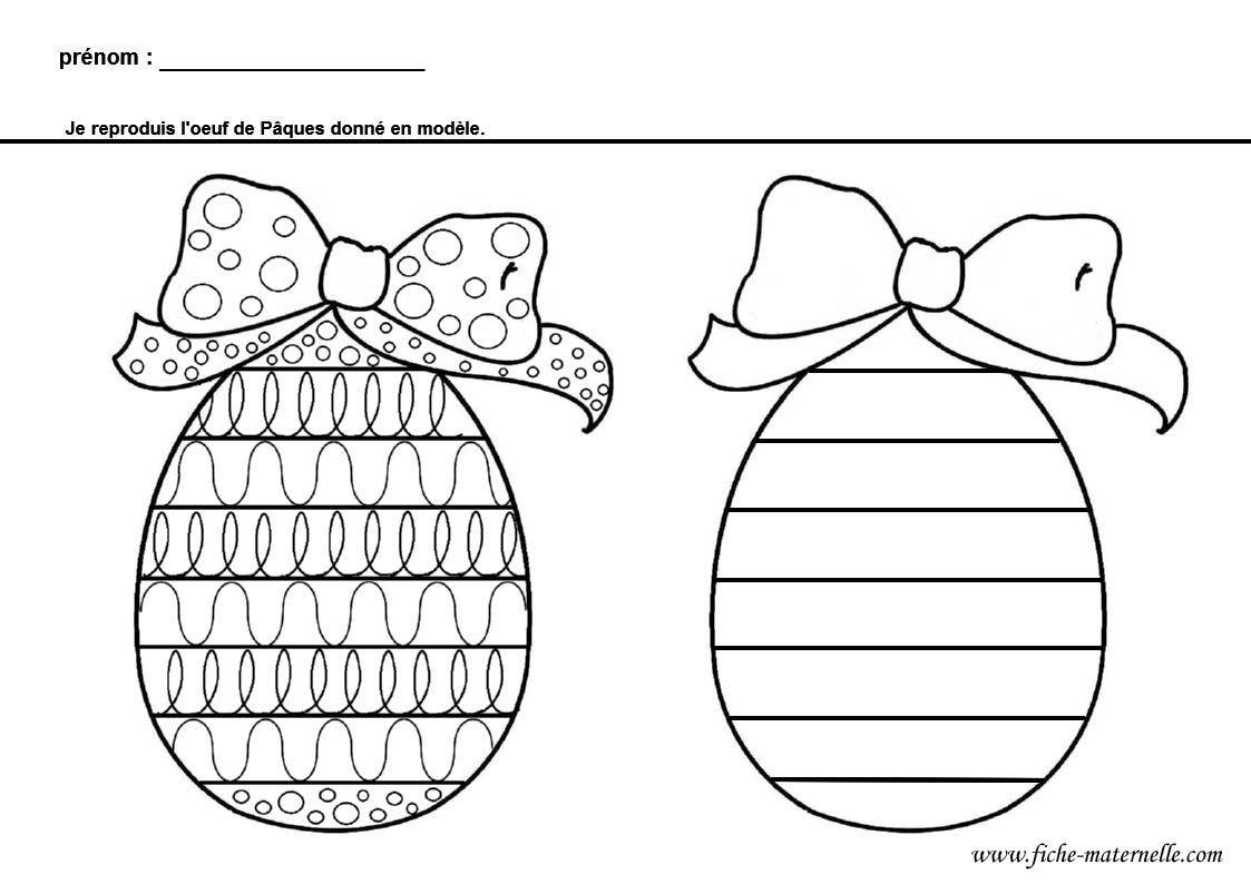 Coloriage Paques Gs.Graphisme Sur Un Oeuf De Paques Gs Et Ms Ostern Ostern Feiertag